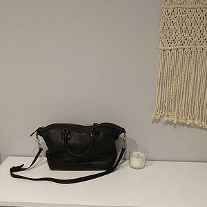 Madewell Berliner Satchel Purse Black Leather